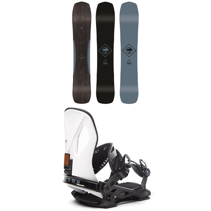 Arbor - Crosscut Rocker Snowboard + Arbor Cypress LTD Snowboard Bindings 2020