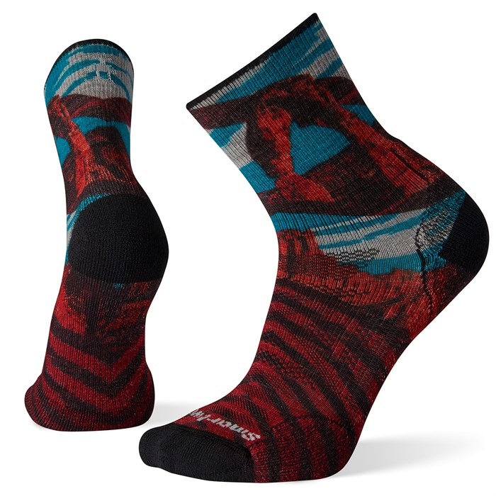 Smartwool - PhD® Outdoor Light Arches Print Mid Crew Socks