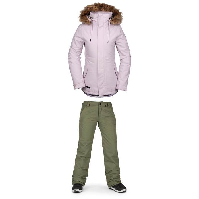 Volcom - Fawn Insulated Jacket + Volcom Frochickie Insulated Pants - Women's
