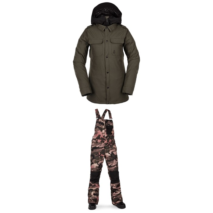 Volcom - Kuma Jacket + Volcom Swift Bib Overalls - Women's
