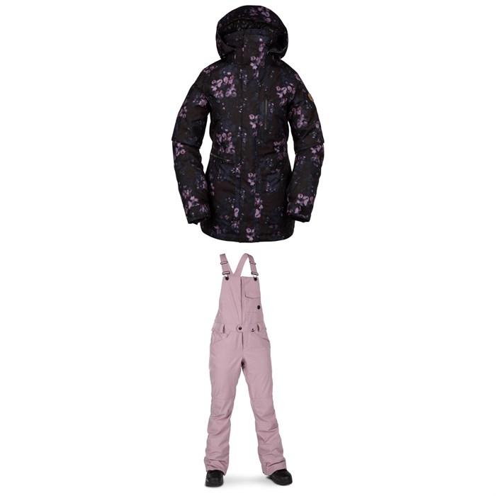Volcom - Shelter 3D Stretch Jacket + Swift Bib Overalls - Women's