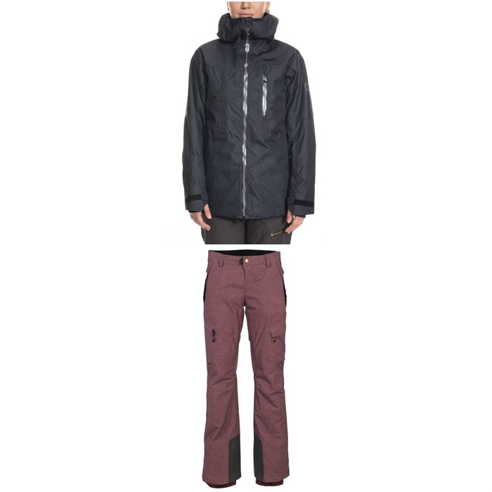 686 - GLCR Cloud Down Thermagraph Jacket + 686 GLCR Geode Thermagraph Pants - Women's