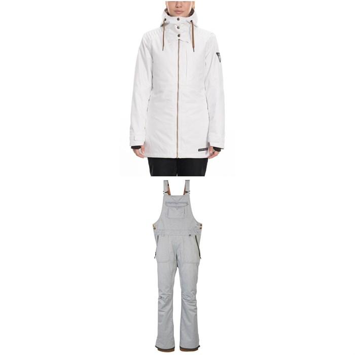686 - Aeon Insulated Jacket + 686 Black Magic Insulated Bibs - Women's