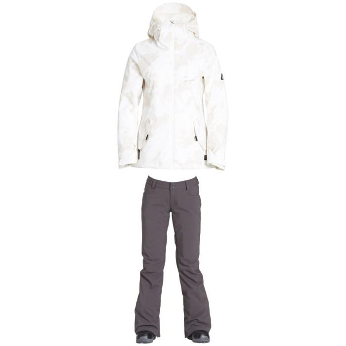 Billabong - Eclipse Jacket + Billabong Terry Stretch Pants - Women's