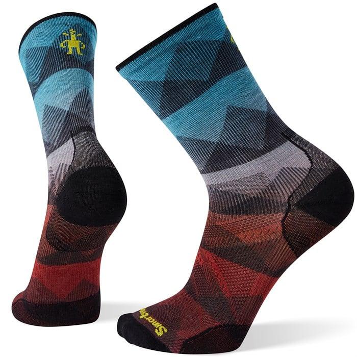 Smartwool - PhD® Cycle Ultra Light Mountain Mesh Print Crew Socks