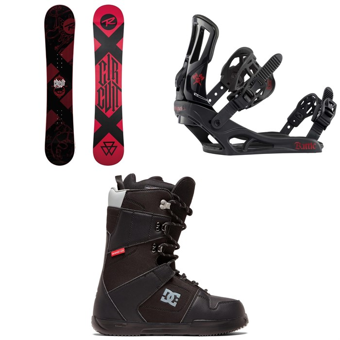 Rossignol - Circuit Snowboard + Rossignol Battle Snowboard Bindings + DC Phase Snowboard Boots 2020
