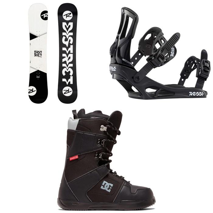 Rossignol - District Snowboard + Rossignol Battle Snowboard Bindings + DC Phase Snowboard Boots 2020