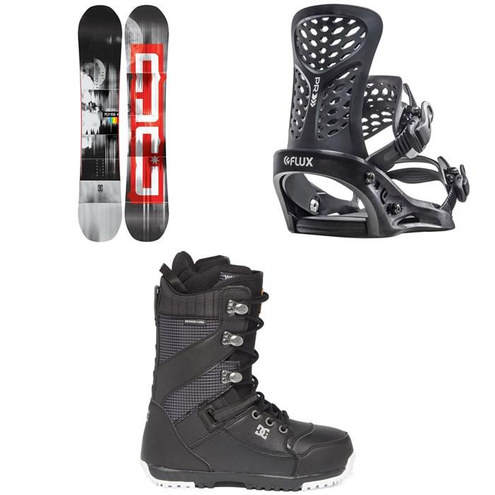 DC - Ply Snowboard + Flux PR Snowboard Bindings + DC Mutiny Snowboard Boots 2020