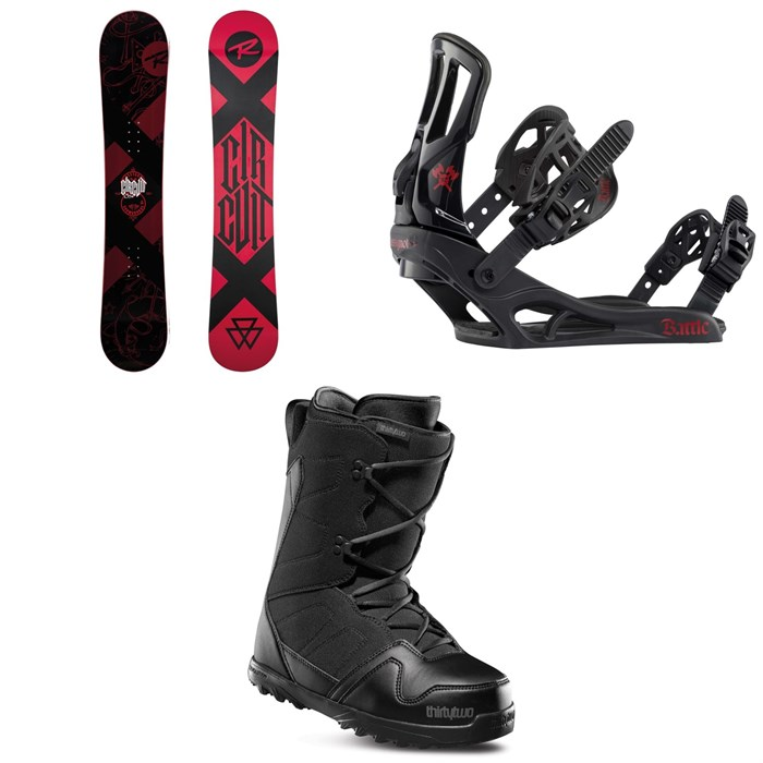 Rossignol - Circuit Snowboard + Battle Snowboard Bindings + thirtytwo Exit Snowboard Boots 2020