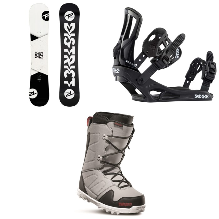 Rossignol - District Snowboard + Battle Snowboard Bindings + thirtytwo Exit Snowboard Boots 2020