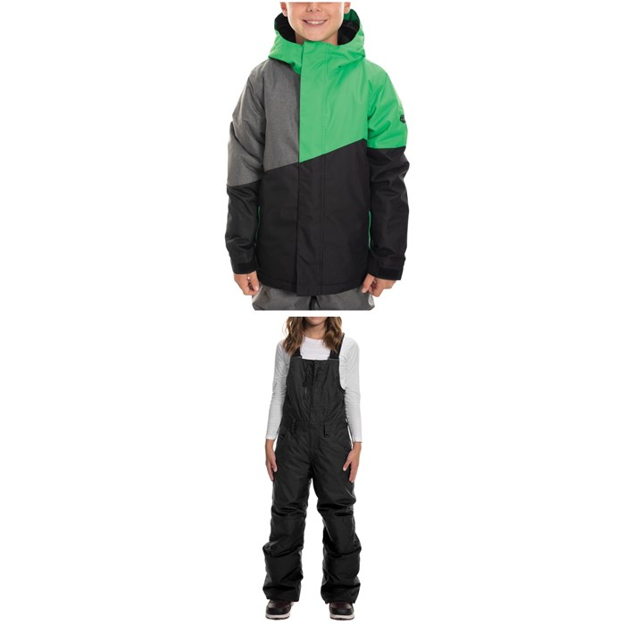 686 - Cross Insulated Jacket - Big Boys' + Sierra Insulated Bibs - Big Kids'
