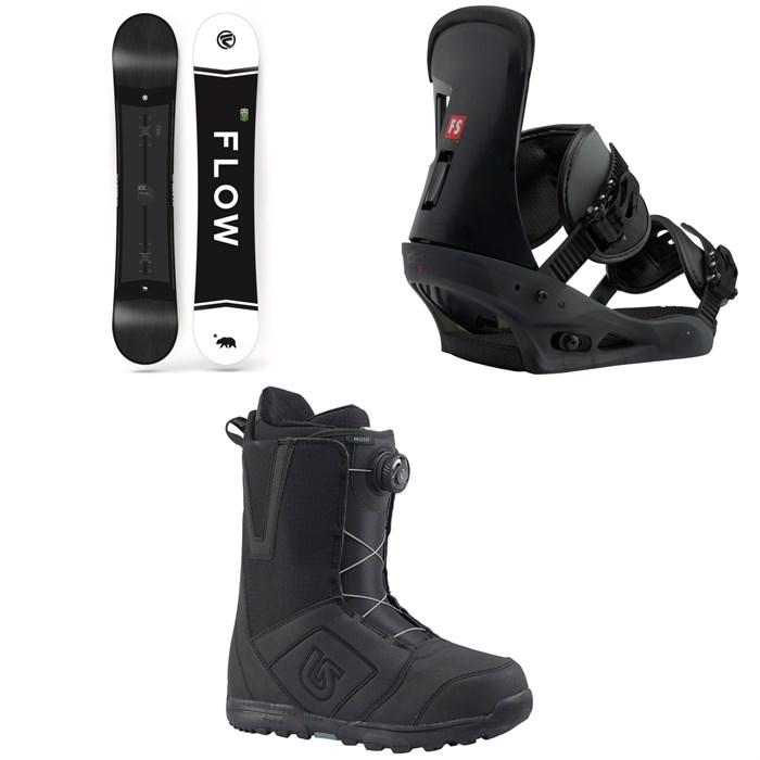 Flow - Merc Snowboard 2018 + Burton Freestyle Snowboard Bindings 2019 + Moto Boa Snowboard Boots 2018