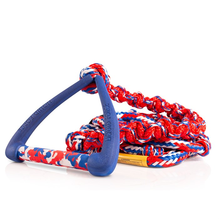 """Liquid Force - 9"""" Handle + DLX Coil Surf Rope"""