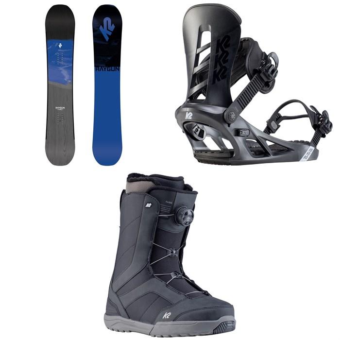 K2 - Raygun Snowboard + K2 Sonic Snowboard Bindings + K2 Raider Snowboard Boots 2020