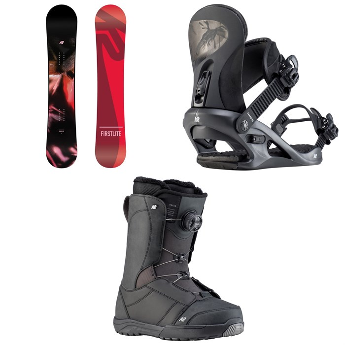 K2 - First Lite Snowboard + Cassette Snowboard Bindings + Haven Snowboard Boots - Women's 2020