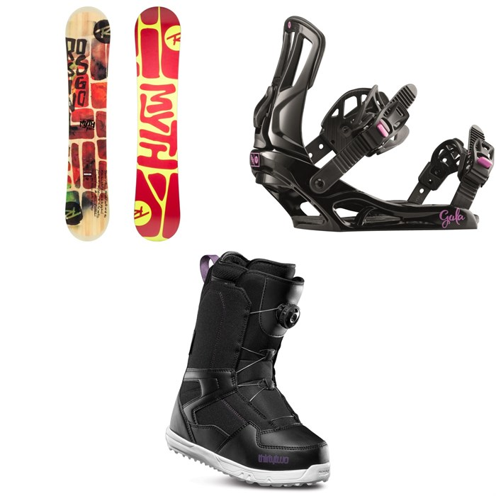 Rossignol - Myth Snowboard + Rossignol Gala Snowboard Bindings + thirtytwo Shifty Boa Snowboard Boots - Women's 2019