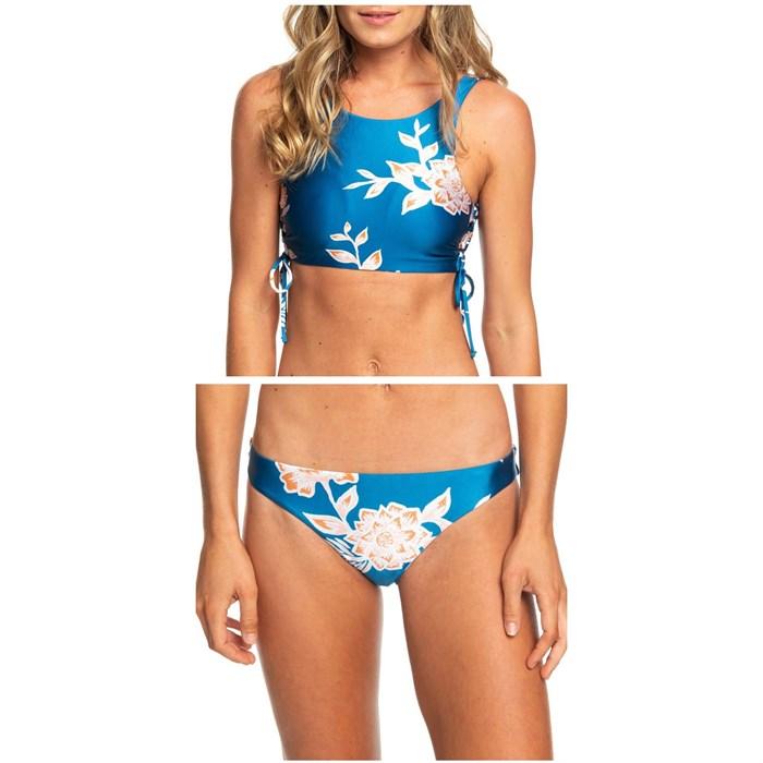 Roxy - Riding Moon Crop Top Bikini Top & Riding Moon Regular Bikini Bottoms - Women's