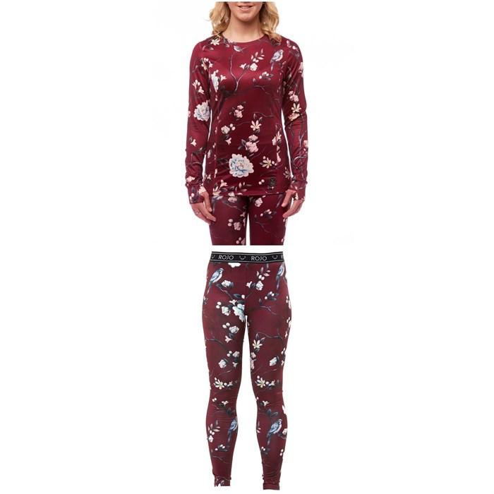 Rojo Outerwear - Crew Neck Top + Base Layer Full Length Pants - Women's