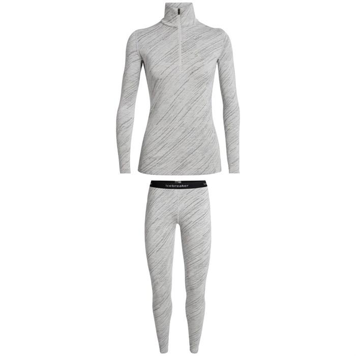 Icebreaker - 250 Vertex Long Sleeve Half Zip Top + 250 Vertex Leggings - Women's