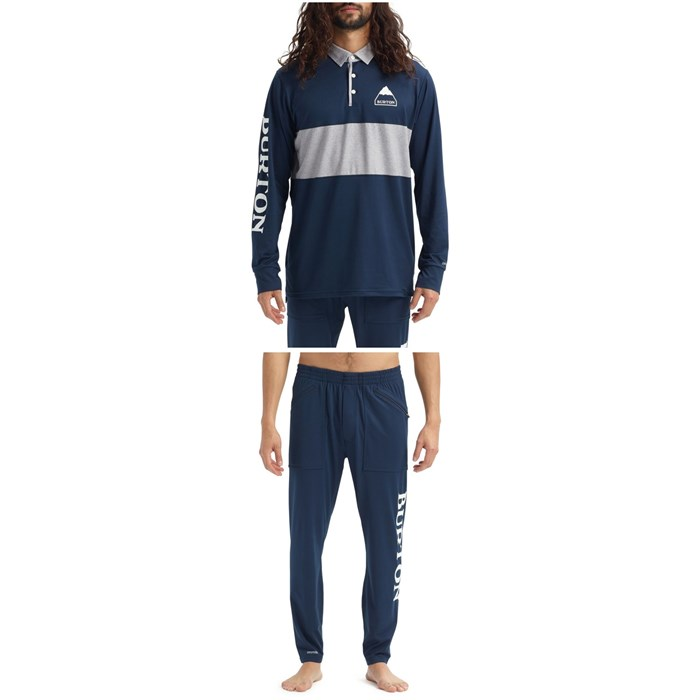 Burton - Midweight Rugby Shirt + Midweight Stash Pants