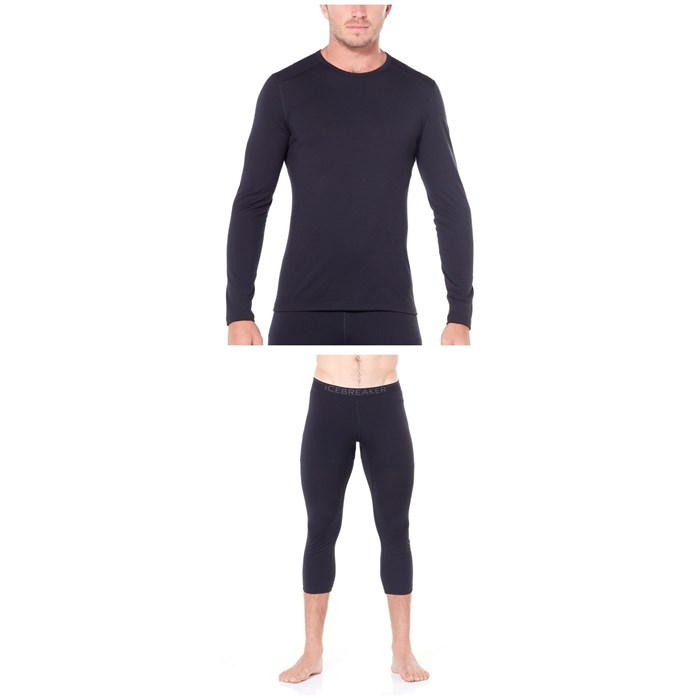 Icebreaker - 200 Oasis Long Sleeve Crew Top + 200 Oasis Legless Bottoms