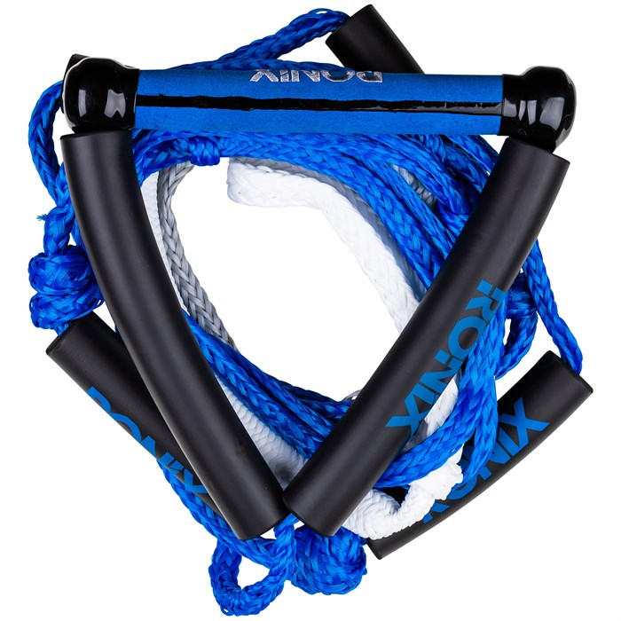 """Ronix - 10"""" Hide Grip Handle + 25 ft 5-Section Bungee Surf Rope"""