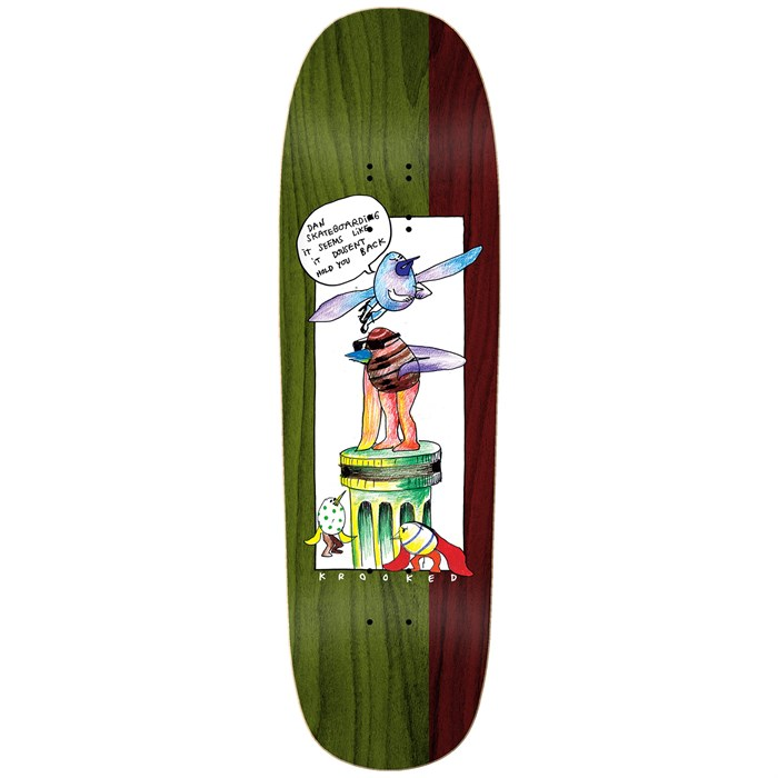 Krooked - Drehobl Pedistol 9.25 Skateboard Deck