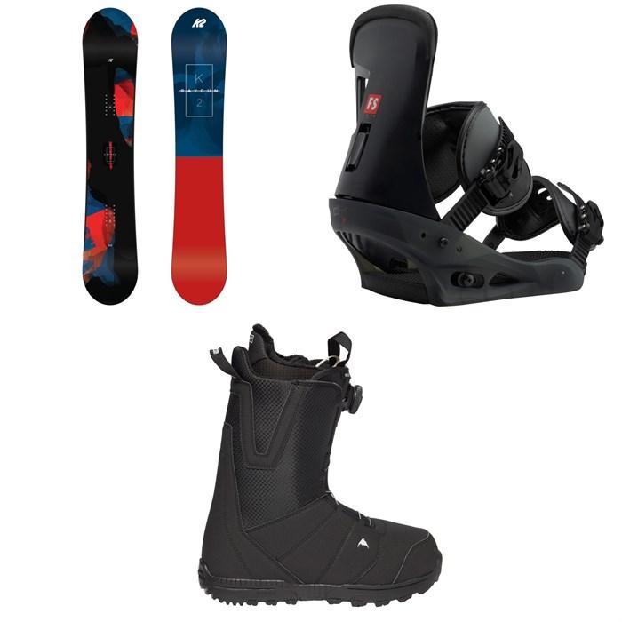 K2 - Raygun Snowboard 2019 + Burton Freestyle Snowboard Bindings 2019 + Moto Boa R Snowboard Boots 2018