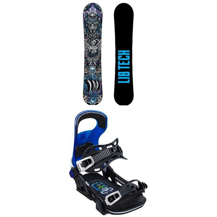 Lib Tech - Terrain Wrecker C2X Snowboard + Bent Metal Logic Snowboard Bindings 2020