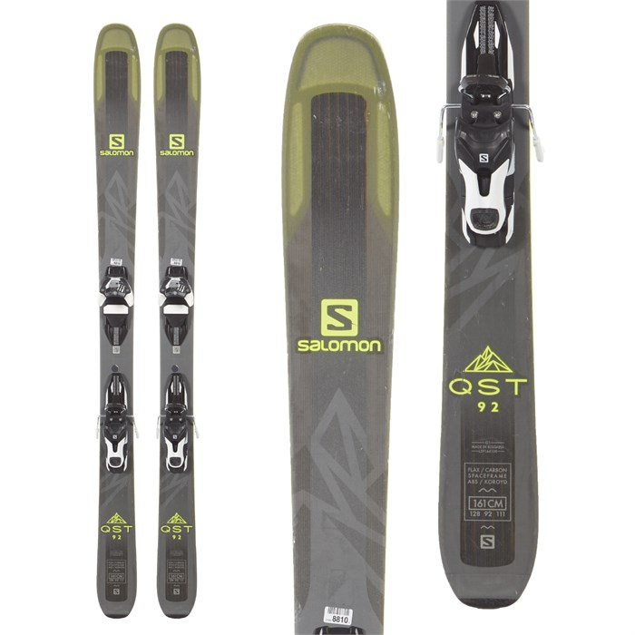 Salomon QST 92 Skis + Warden 11 MNC Demo Bindings 2018