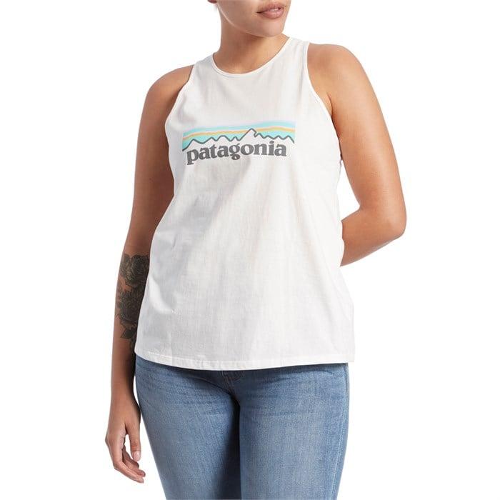 Patagonia - Pastel P-6 Logo Organic High-Neck Tank Top - Women's