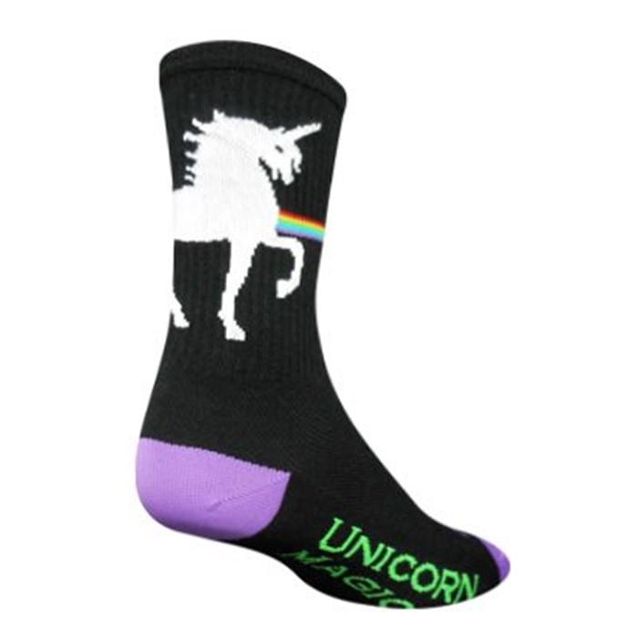 "SockGuy - Unicorn Express 6"" Crew Bike Socks"