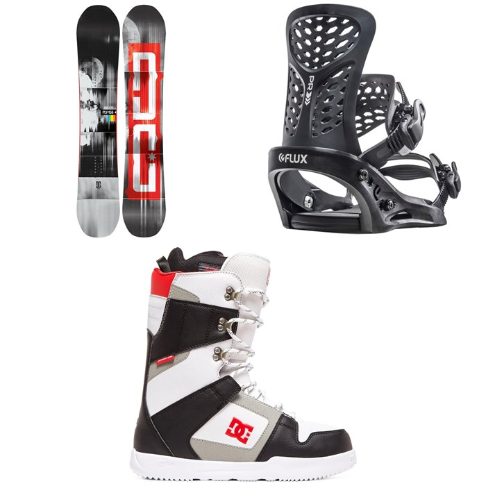 DC - Ply Snowboard + Flux PR Snowboard Bindings + DC Phase Snowboard Boots 2020
