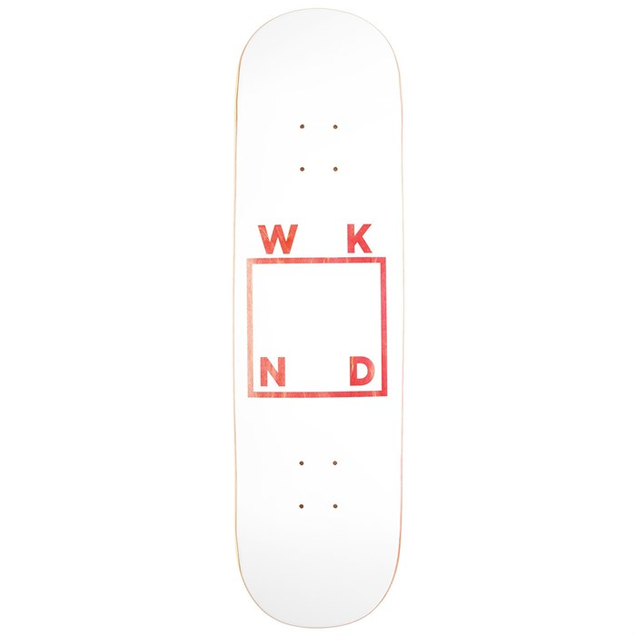 WKND - White Logo Assorted 8.0 Skateboard Deck