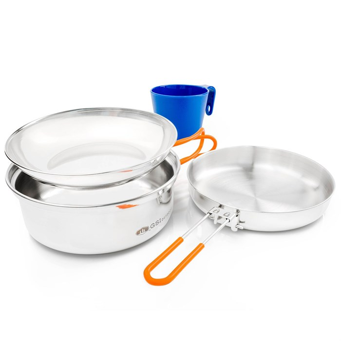 GSI Outdoors - Glacier Stainless 1 Person Mess Kit