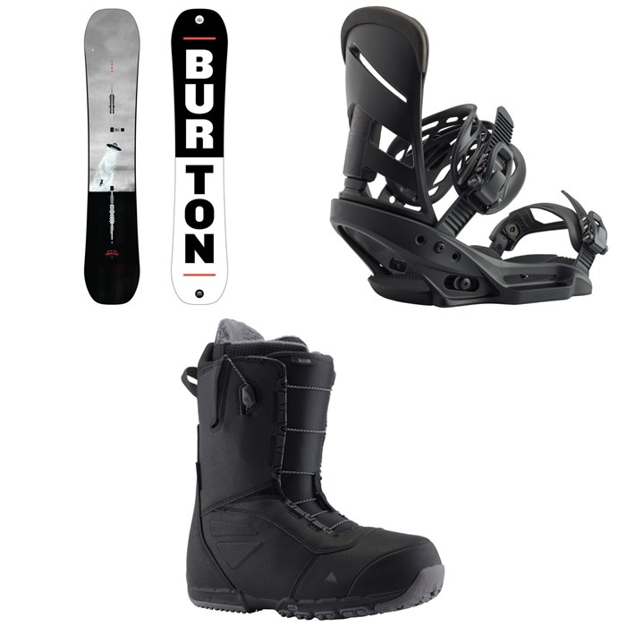 Burton - Process Flying V Snowboard + Mission EST Snowboard Bindings + Ruler Snowboard Boots 2020