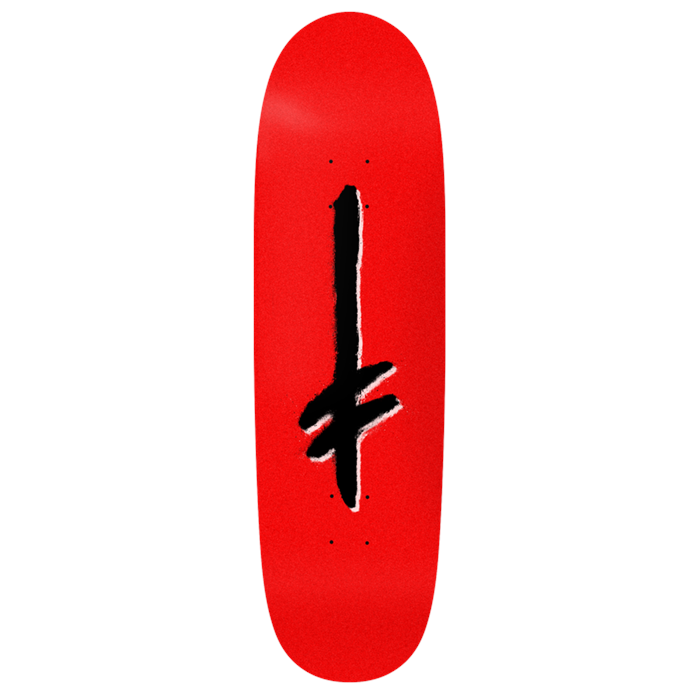 Deathwish - Gang Logo Red/Blk Shaped 9.1 Skateboard Deck