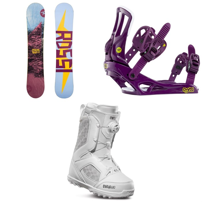 Rossignol - Myth Snowboard + Myth Snowboard Bindings + thirtytwo STW Boa Snowboard Boots - Women's 2020