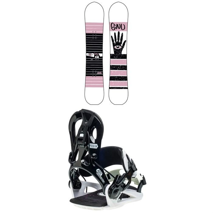 GNU - Gloss C2 Snowboard + GNU B-Real Snowboard Bindings - Women's 2020