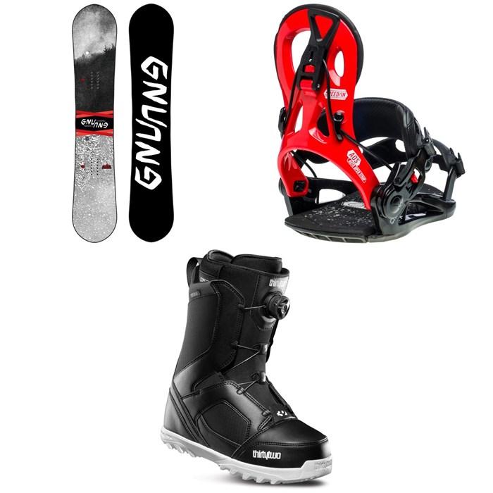 GNU - T2B Snowboard + GNU Cheeter Snowboard Bindings + thirtytwo STW Boa Snowboard Boots 2020