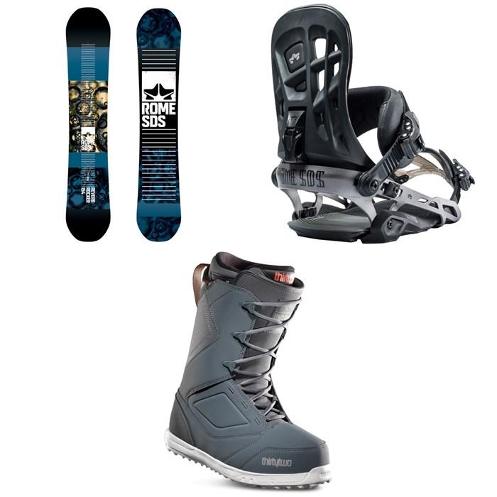 Rome - Reverb Rocker SE Snowboard + 390 Boss Snowboard Bindings + thirtytwo Zephyr Snowboard Boots 2019