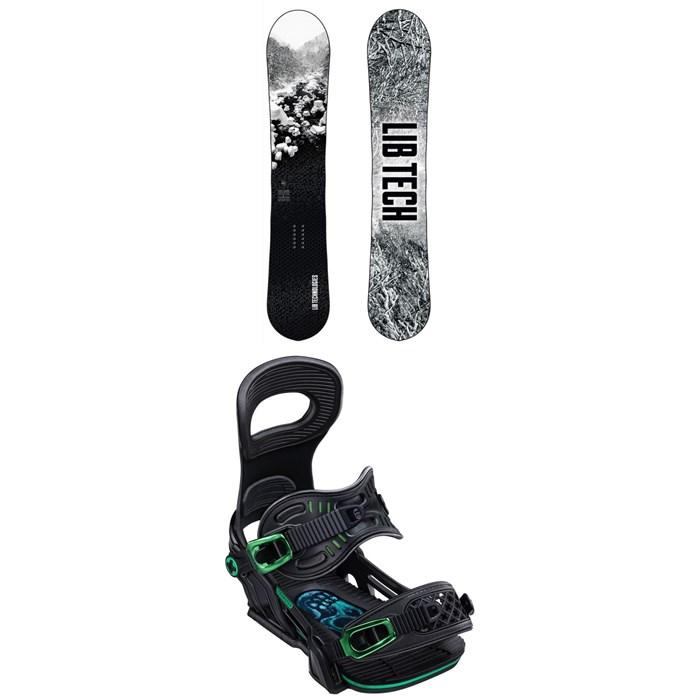 Lib Tech - Cold Brew C2 Snowboard + Bent Metal Transfer Snowboard Bindings 2020