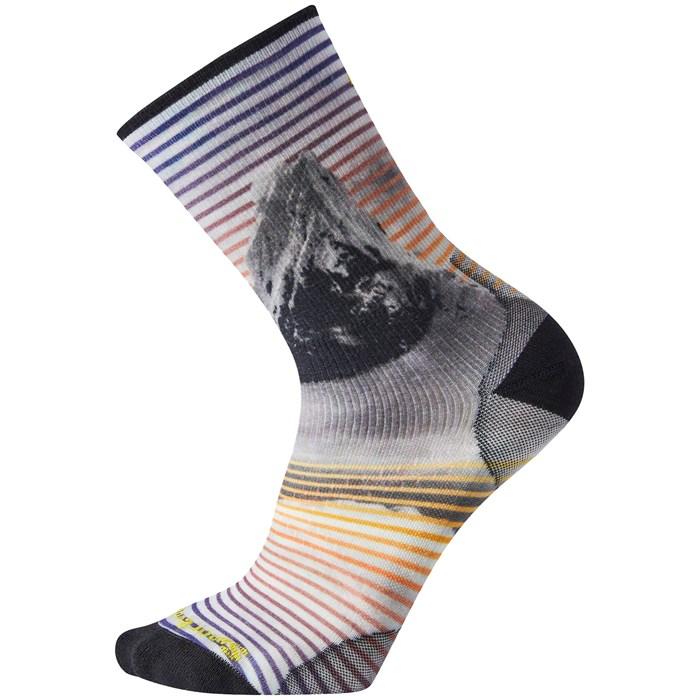 Smartwool - PhD® Ultra Light Snow Summit Print Crew Socks
