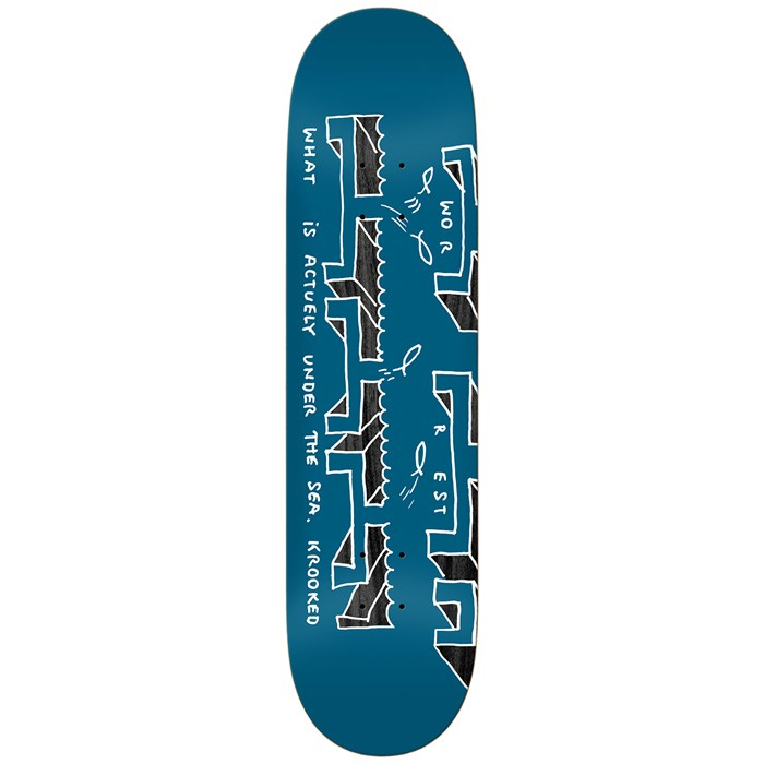 Krooked - Worrest The Sea Twin Tail Slick 8.30 Skateboard Deck