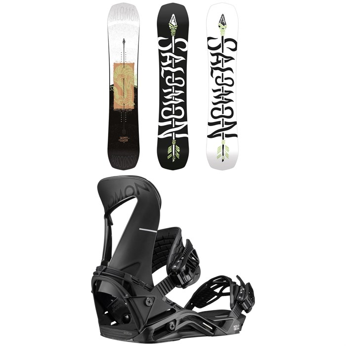 Salomon - Assassin Snowboard + Hologram Snowboard Bindings 2020