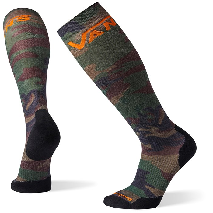 Smartwool - PhD Snow VANS Woodland Camo Print Light Elite Socks