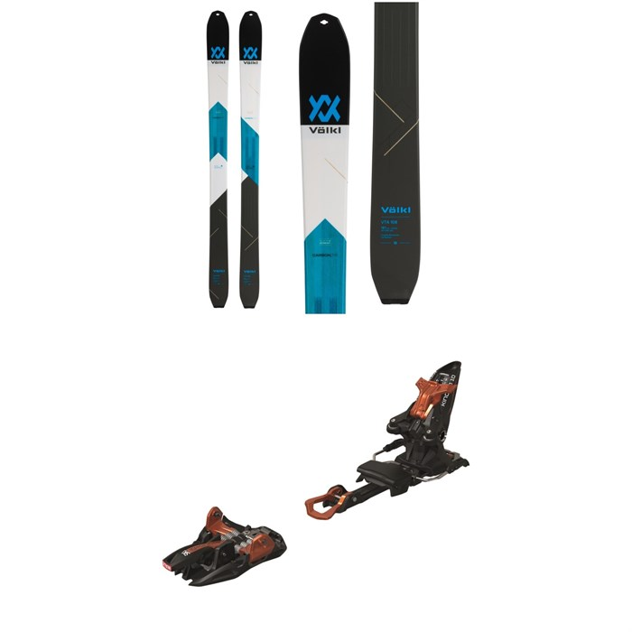 Volkl - VTA 108 Skis + Marker Kingpin 10 Alpine Touring Ski Bindings 2020