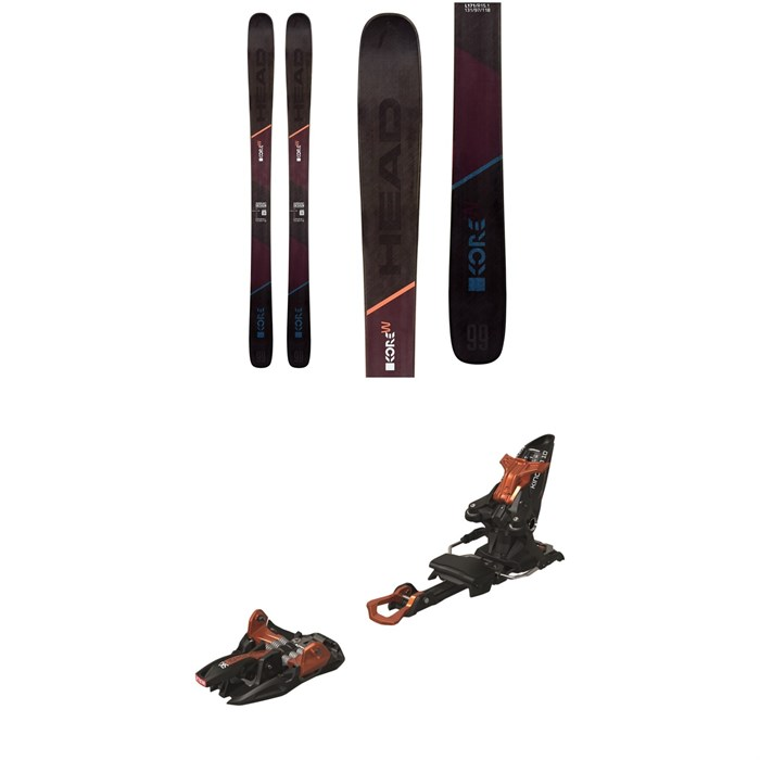 Head - Kore 99 W Skis 2020 + Marker Kingpin 10 Alpine Touring Ski Bindings - Women's 2020