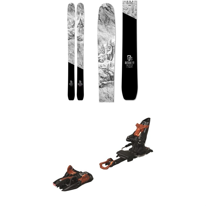 Icelantic - Natural 111 Skis 2020 + Marker Kingpin 13 Alpine Touring Ski Bindings 2020