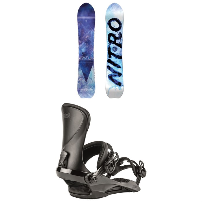 Nitro - Drop Snowboard + Cosmic Snowboard Bindings - Women's 2020